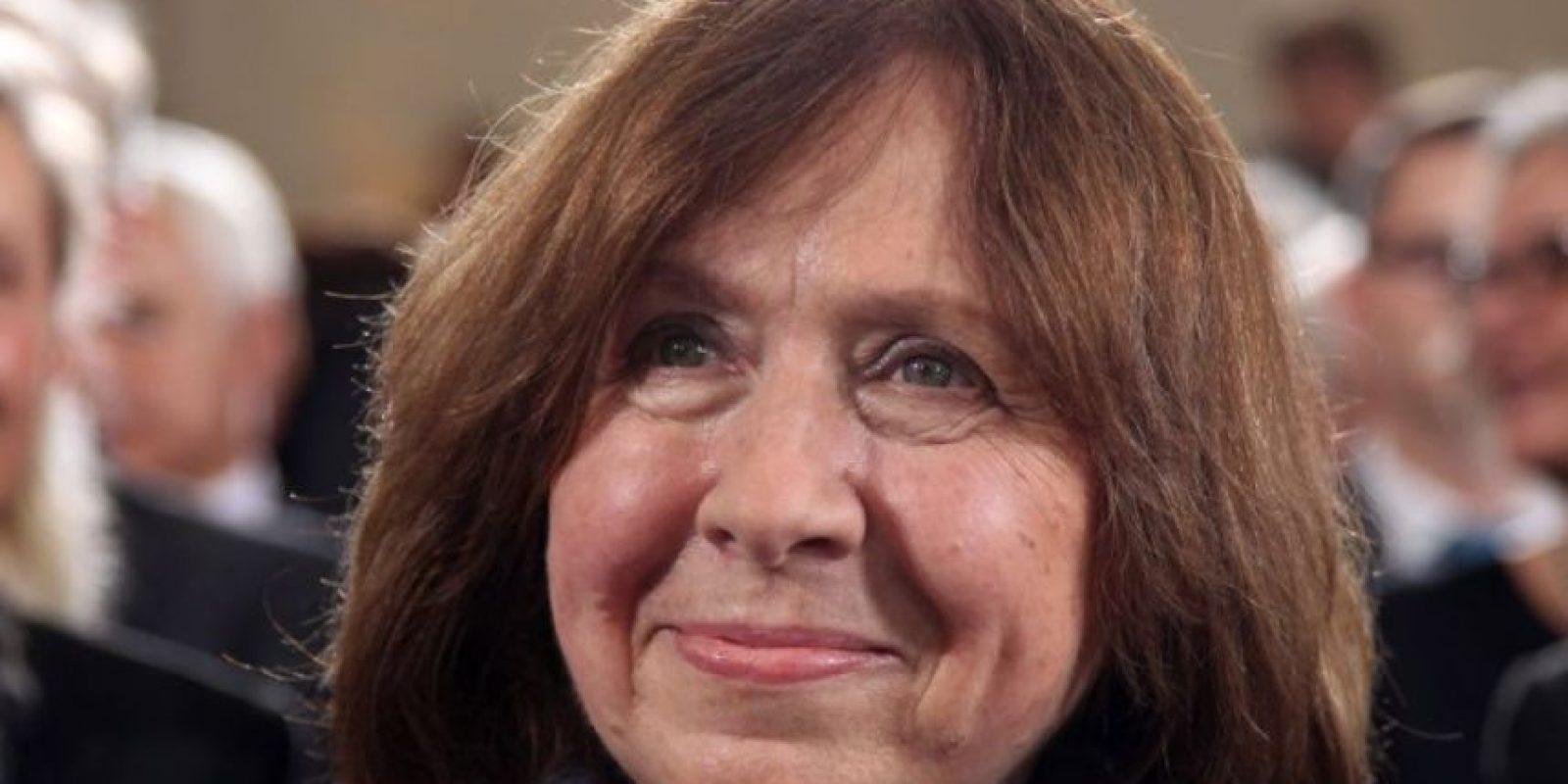 La escritora bielorrusa, Svetlana Alexievich, fue galardonada con el Premio Nobel de Literatura. Foto:AFP
