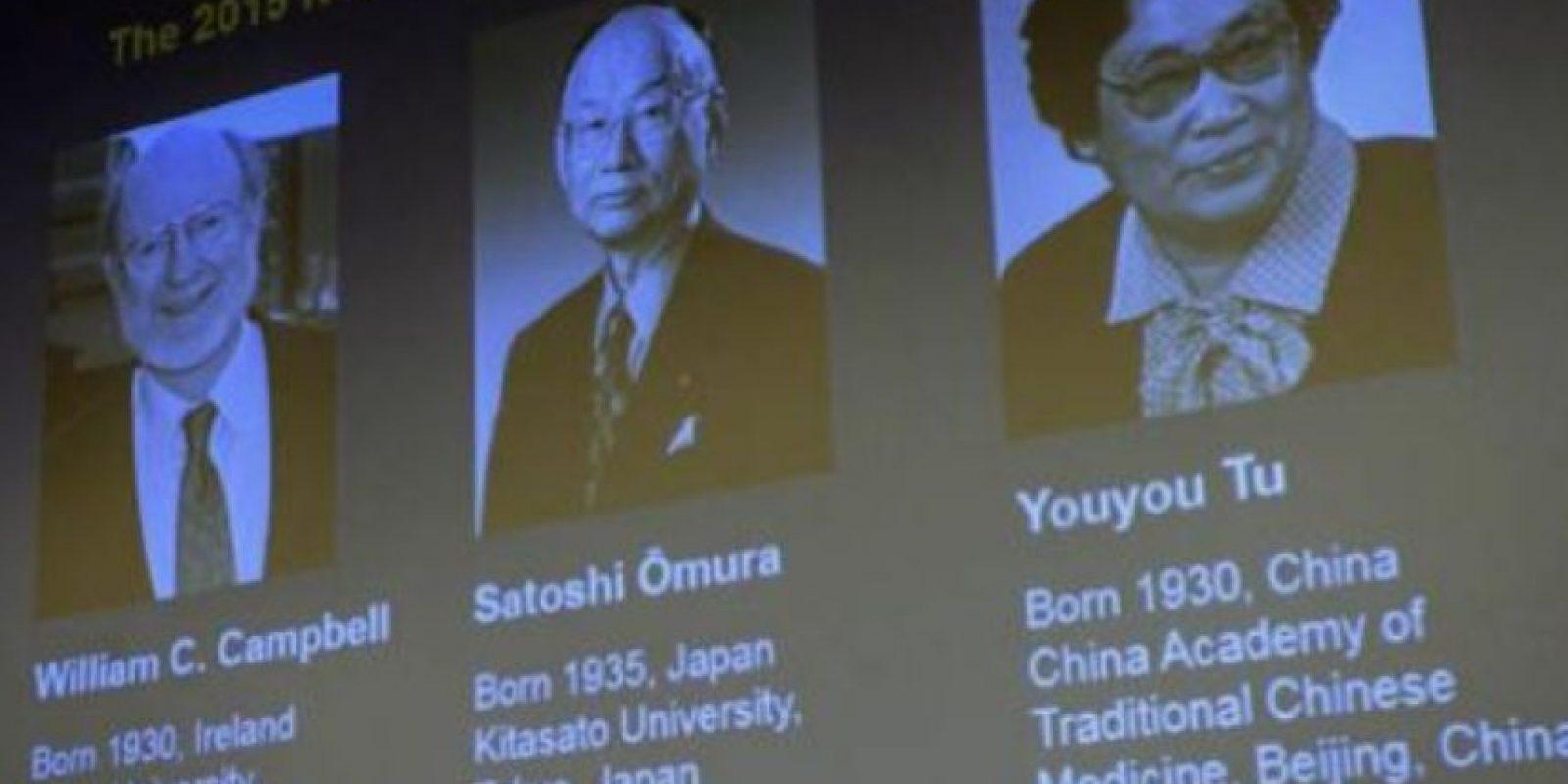 El científicos irlandés William C. Campbell, el japonés Satoshi Omura y la china Youyou Tu ganaron hoy el Premio Nobel de Medicina. Foto:Vía wiki