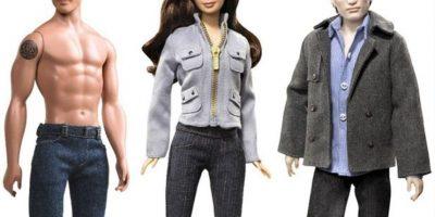 "Kristen Stewart, Taylor Lautner y Robert Pattinson en ""Crepúsculo"" Foto:vía Mattel"
