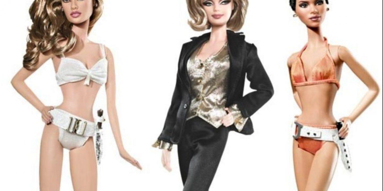 """Úrsula Andress y Halle Berry en """"James Bond"""" Foto:vía Mattel"""