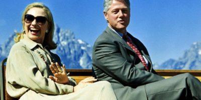 La pareja de visita al parque nacional Grand Teton. 26 de agosto de 1995. Foto:Getty Images