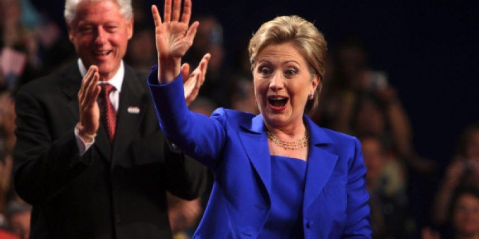 3 de junio de 2008. Hillary Clinton como candidata presidencial en Nueva York. Foto:Getty Images