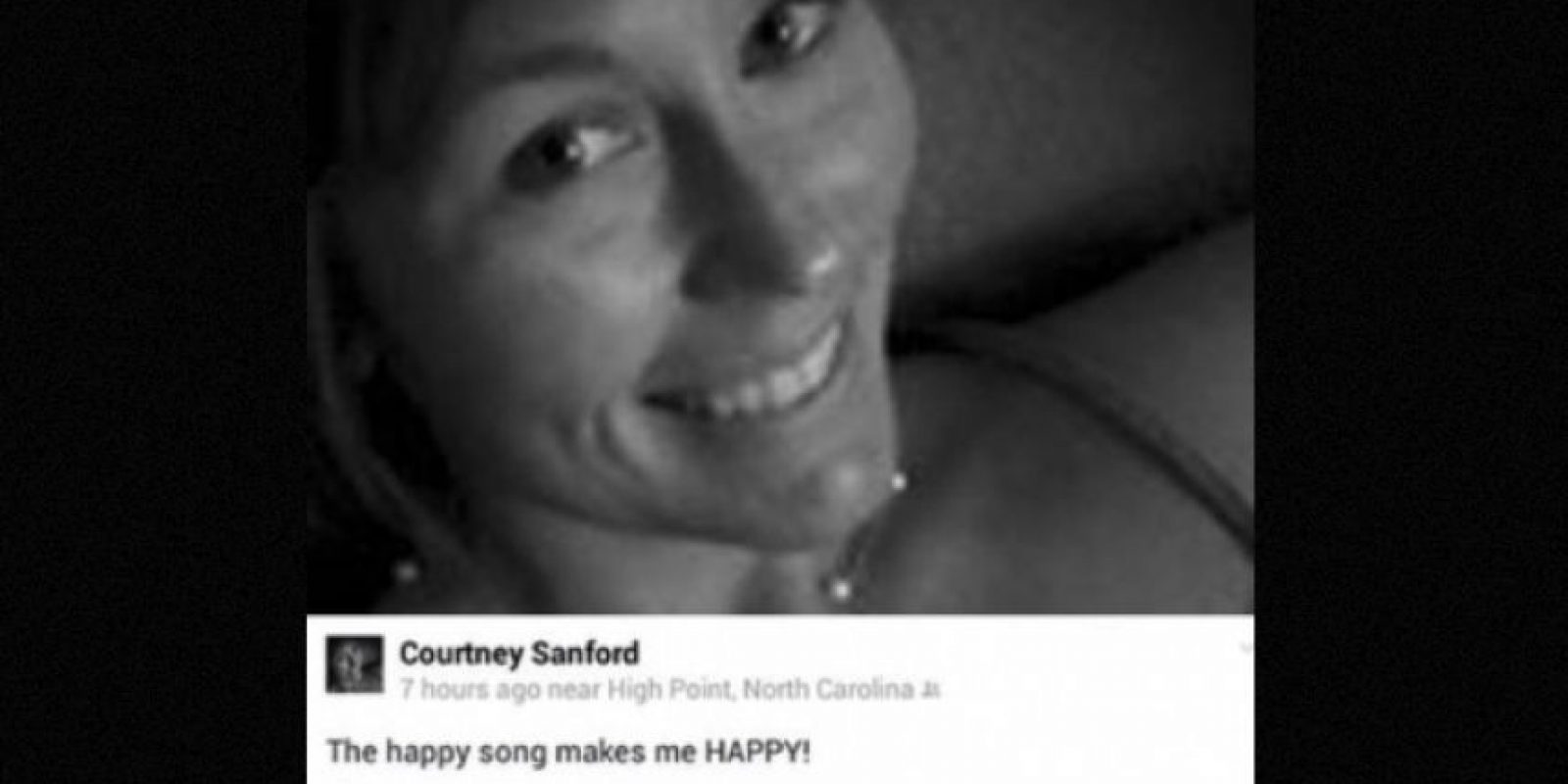 Courtney Sanford, antes de chocar Foto:Twitter.com – Archivo
