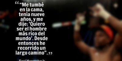 """Floyd Mayweather es el deportista mejor pagado del mundo. Según la Revista """"Forbes"""" su fortuna es de 300 millones de dólares. Foto:www.quotescover.com"""