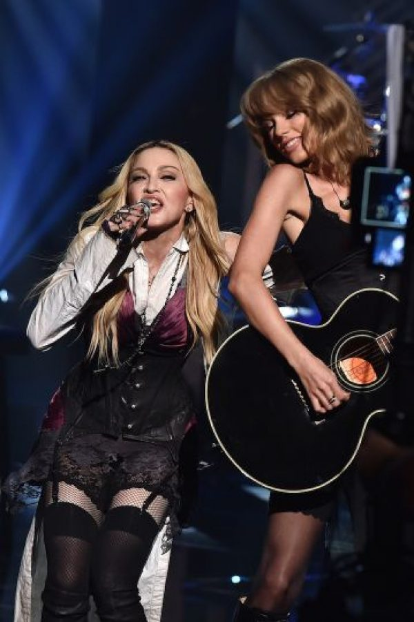 Taylor con Madonna Foto: Getty Images