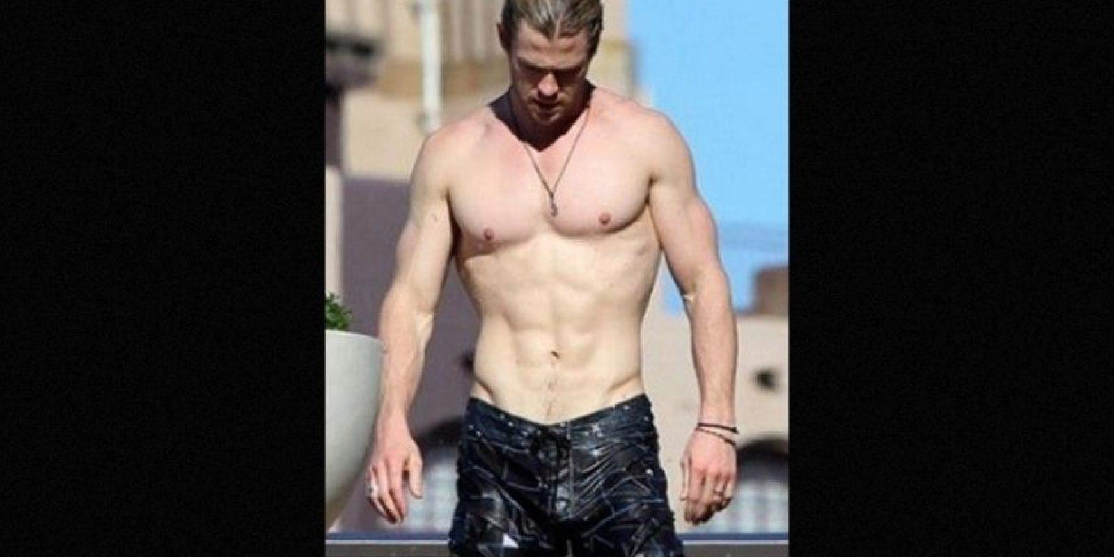 """6. Ganó 9 kilos de músculos para encarnar a """"Thor"""", un objetivo que logró con una estricta rutina de ejercicios y dieta. Foto:Grosby Group"""