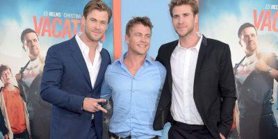 Luke es el mayor, mientras que Liam es el más chico. Los tres hermanos son actores. Foto:Getty Images