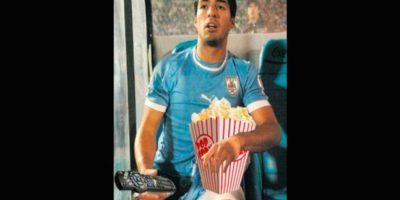 Así lo vio Luis Suárez, suspendido. Foto:Vía twitter.com