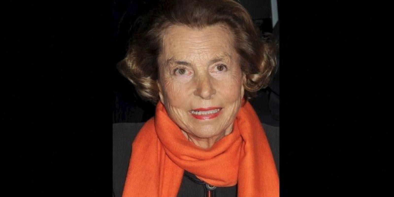 10. Liliane Bettencourt, 92 años. Su fortuna se valúa en 40 mil 100 millones de dólares. Foto:Getty Images
