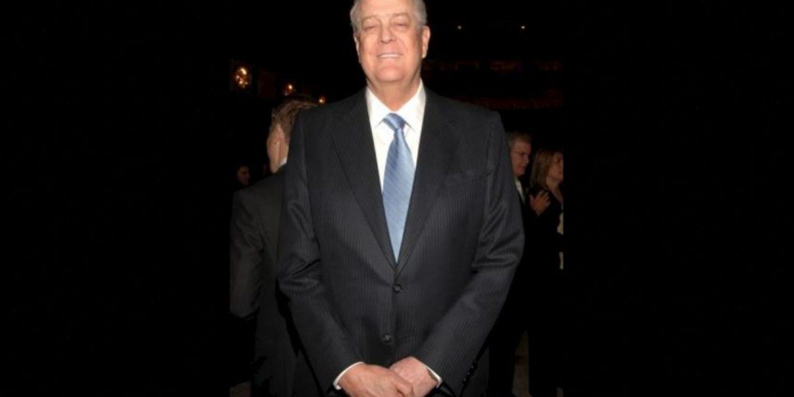 6. David Koch, de 75 años. Su fortuna se estima en 42 mil 900 millones de dólares Foto:Getty Images