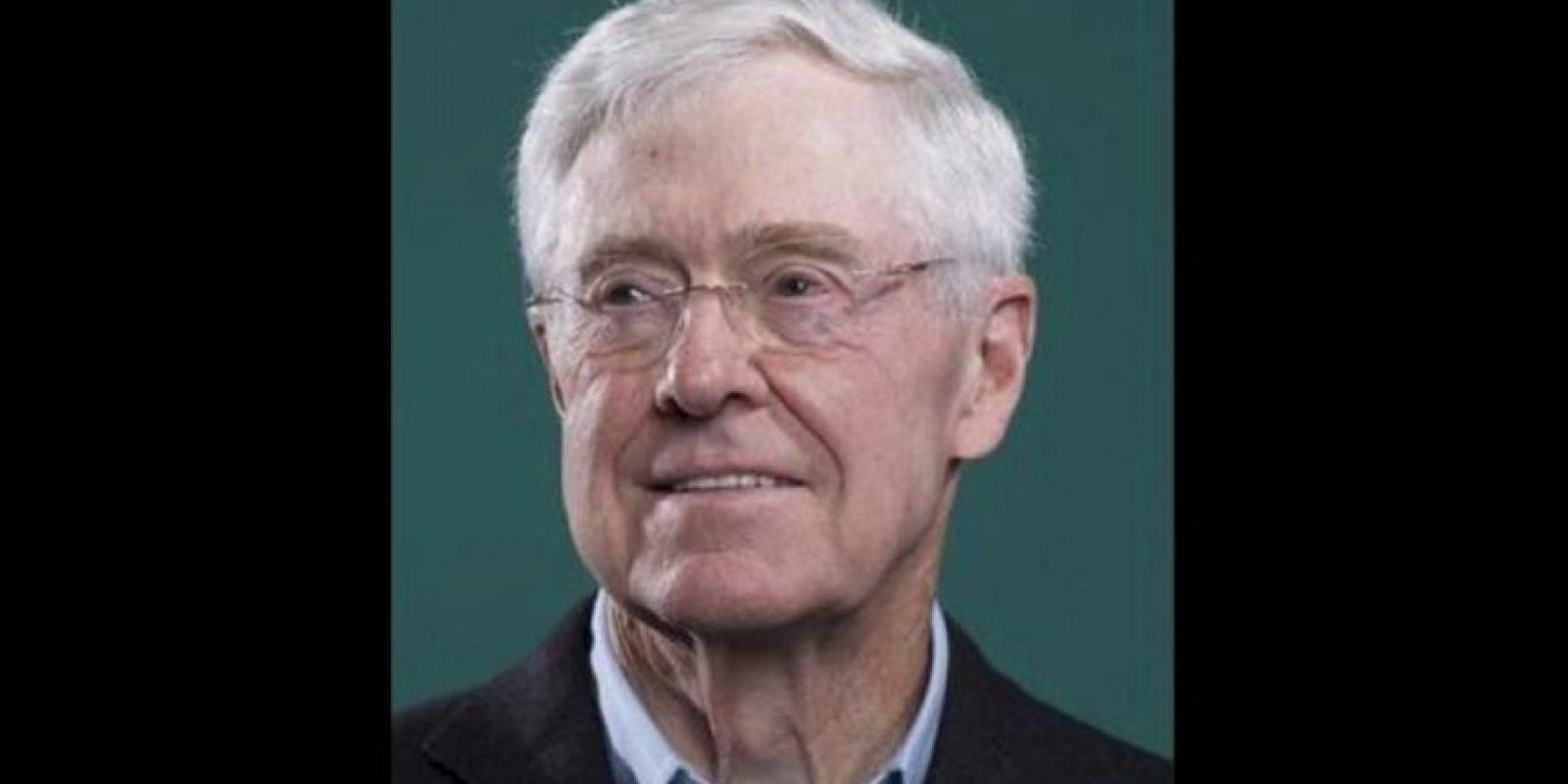 6. Charles Koch, de 79 años es junto con su hermano dueño de Koch Industries Foto:Getty Images