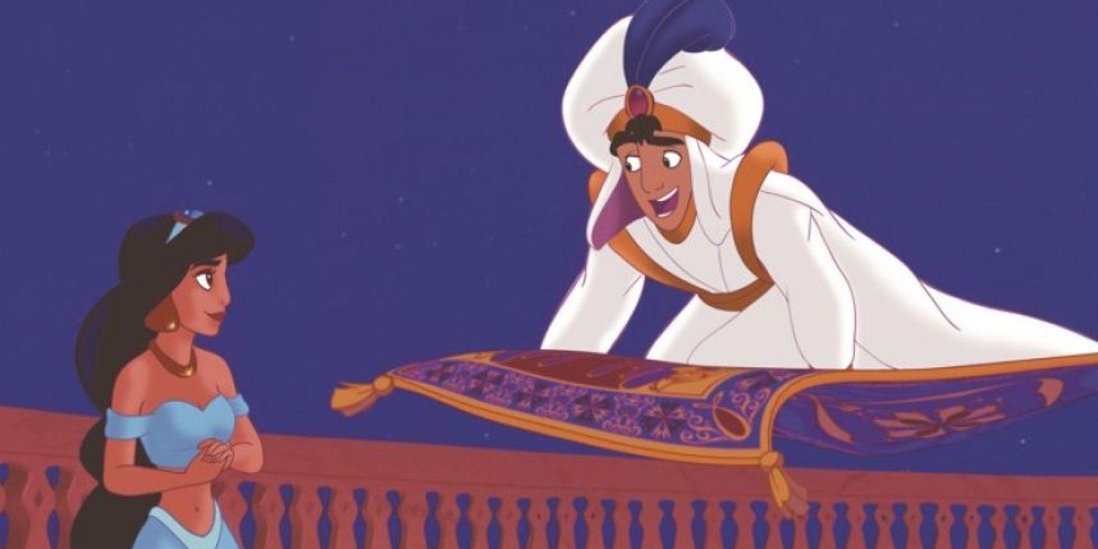 """Para que """"Jasmín"""", hija del Sultán, se case con él. Foto:Disney"""