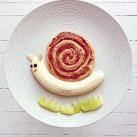 Caracol con fruta. Foto:instagram.com/idafrosk