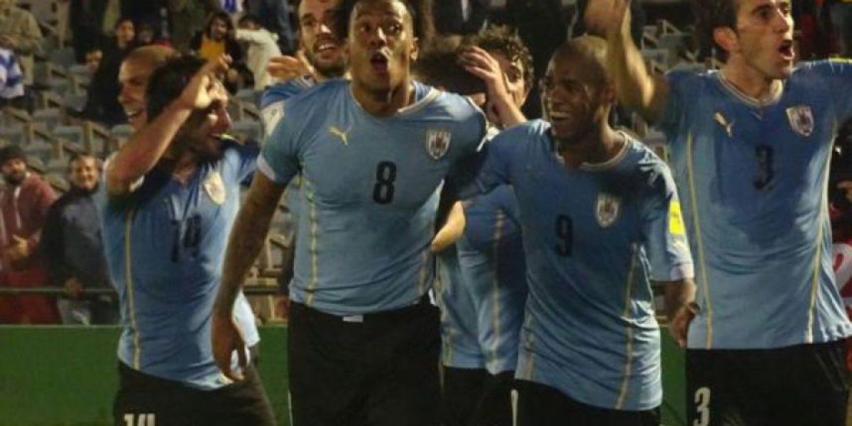 Luis Suárez festejó emocionado el triunfo de Uruguay sobre Colombia