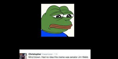Jim Webb tampoco se salvó del trolleo. Foto:vía Twitter