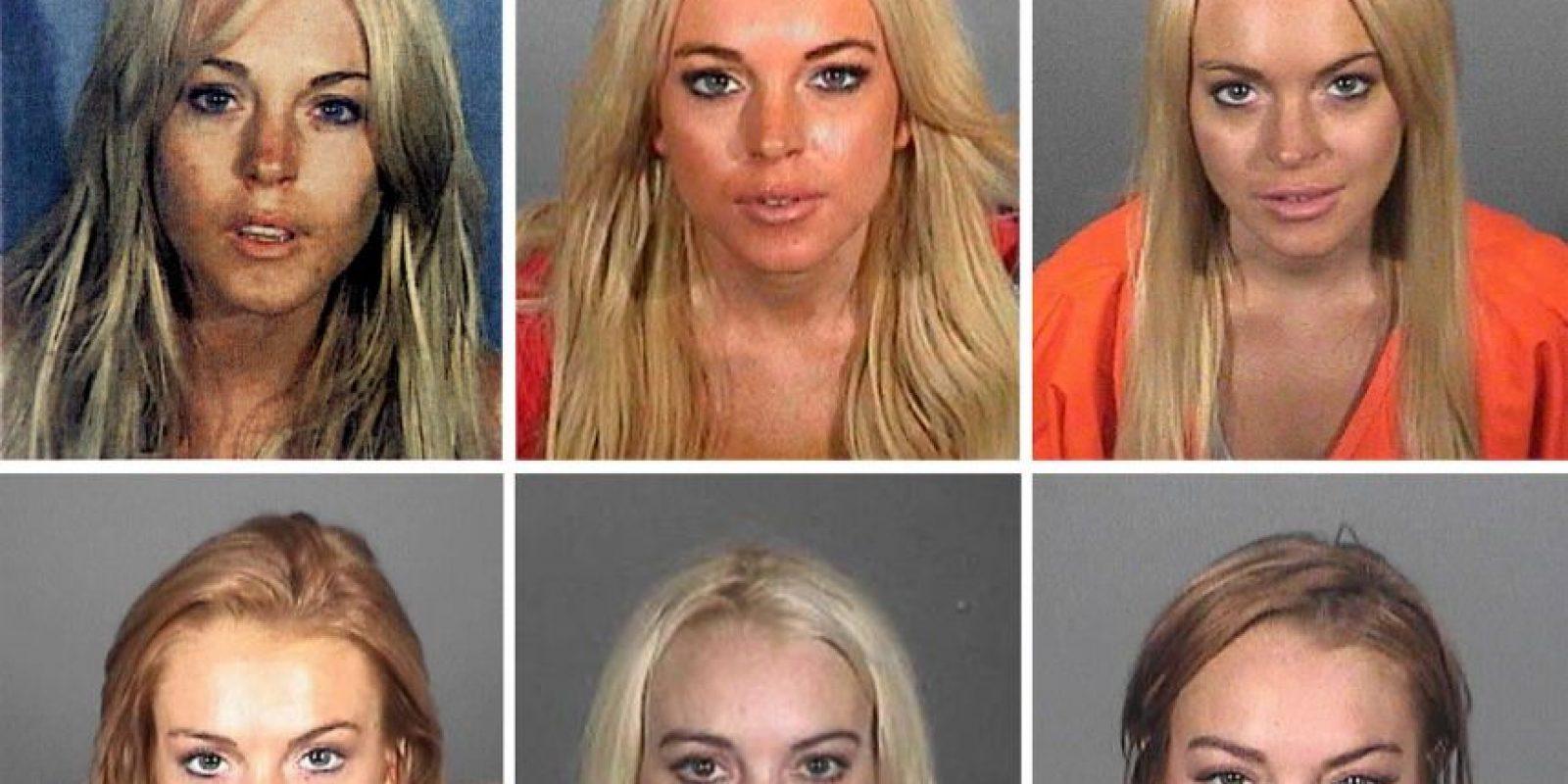 Lindsay Lohan, en múltiples ocasiones Foto:Getty Images