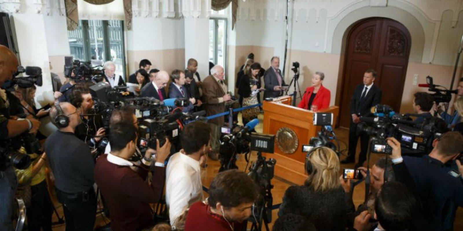 El Cuarteto Nacional de Diálogo fue galadornado con el Premio Nobel de este año. Foto:AP
