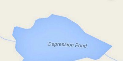 Depression Pond (Dover, New York state, Estados Unidos) Foto:Vía Instagram @sadtopographies