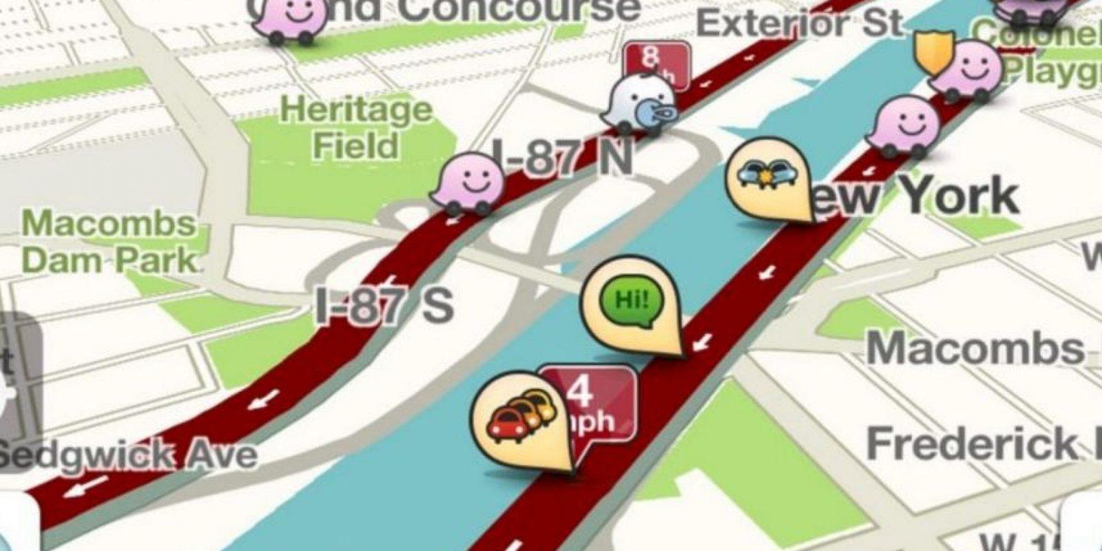 A partir de la versión 3.9.4 hay una barra de tráfico, la cual les puede decir el tiempo que estarán en un embotellamiento y su progreso en tiempo real. Foto:Waze