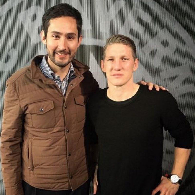 Conoció al futbolista alemán Bastian Schweinsteiger. Foto:instagram.com/kevin