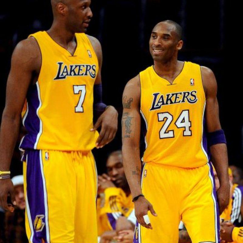Ganó dos títulos con los Lakers en 2009 y 2010 Foto:Getty Images
