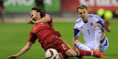 Salió de cambio al minuto 10 del partido contra Luxemburgo por un esguince en el ligamento lateral interno de su tobillo . Foto:Getty Images