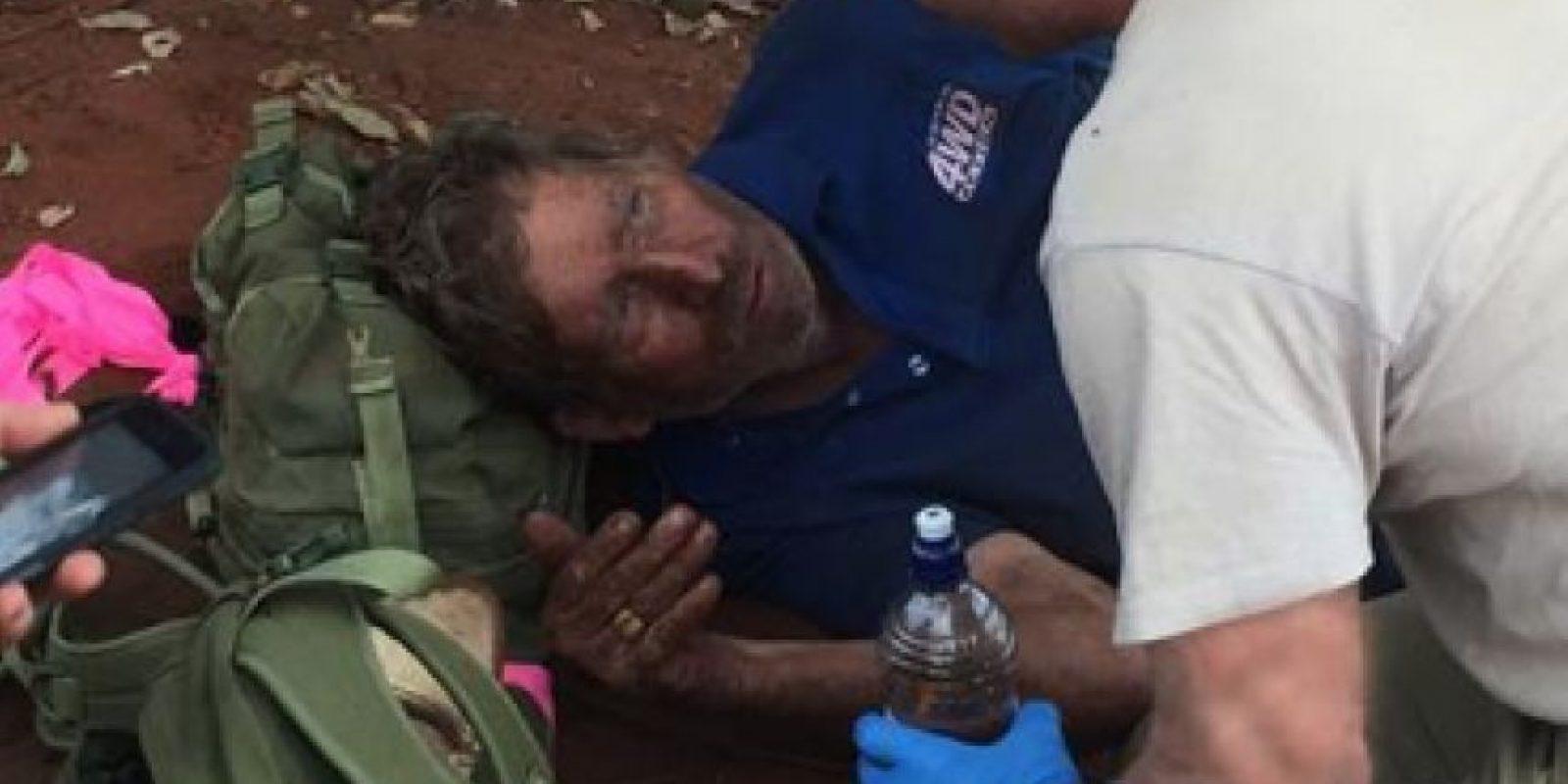 Reginald Foggerdy casi se muere en el Desierto de Victoria. Foto:vía Twitter