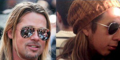 Brad Pitt y este. Foto:vía Nacadas de la Vida Real