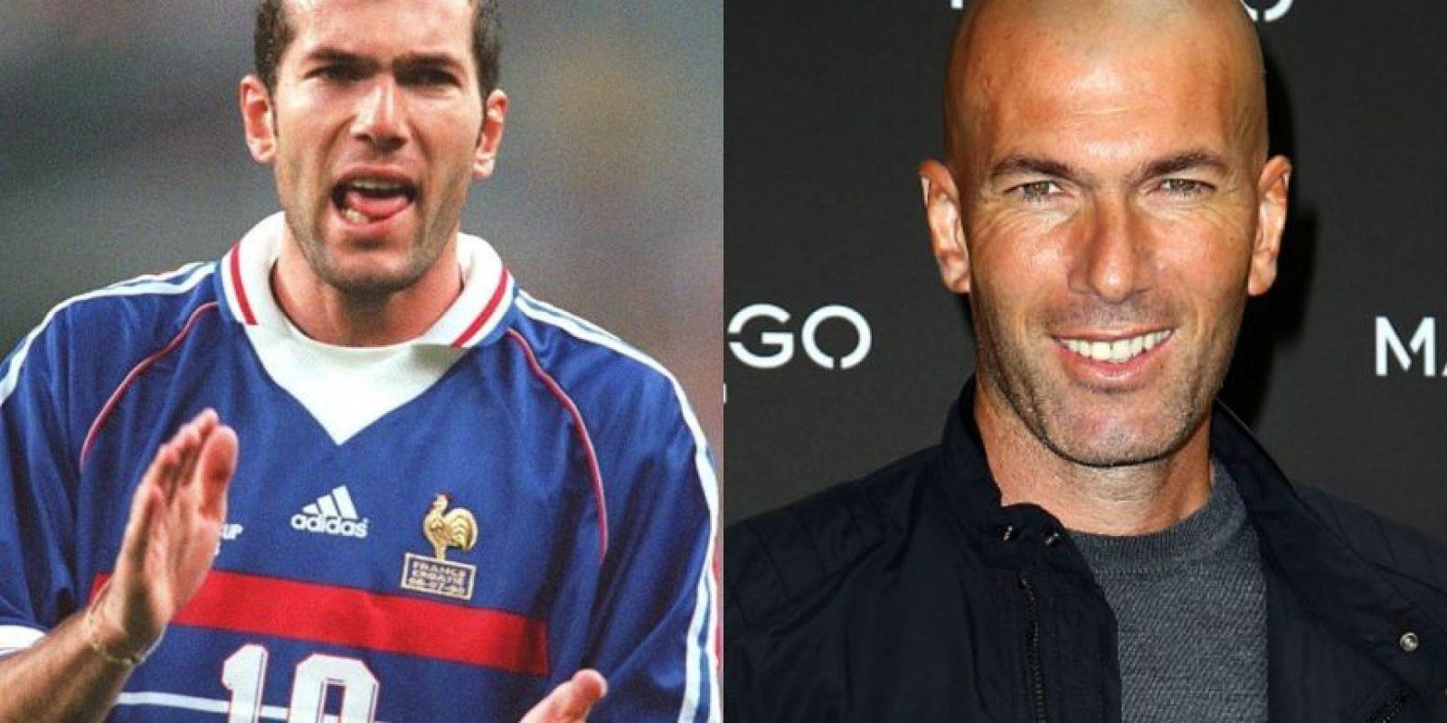 """Zinedine Zidane: Este talentoso francés de 48 años, fue Campeón del Mundo en 1998 y uno de los """"Galácticos"""" del Real Madrid. Se retiró en 2006. Foto:Getty Images"""