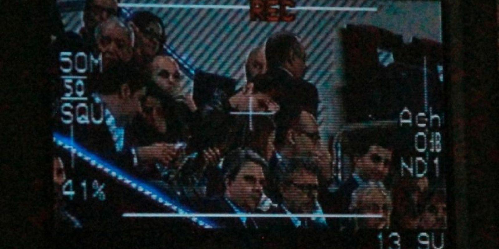 Messi estuvo en la tribuna. Foto:Ramón Mompiò