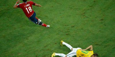 El lateral colombiano se echó a todo Brasil en contra cuando lesionó a Neymar en el Mundial de 2014. Zúñiga le propinó una dura entrada al brasileño en duelo de cuartos de final de la Copa del Mundo, provocándole una fractura en la cuarta vértebra lumbar. Foto:Getty Images