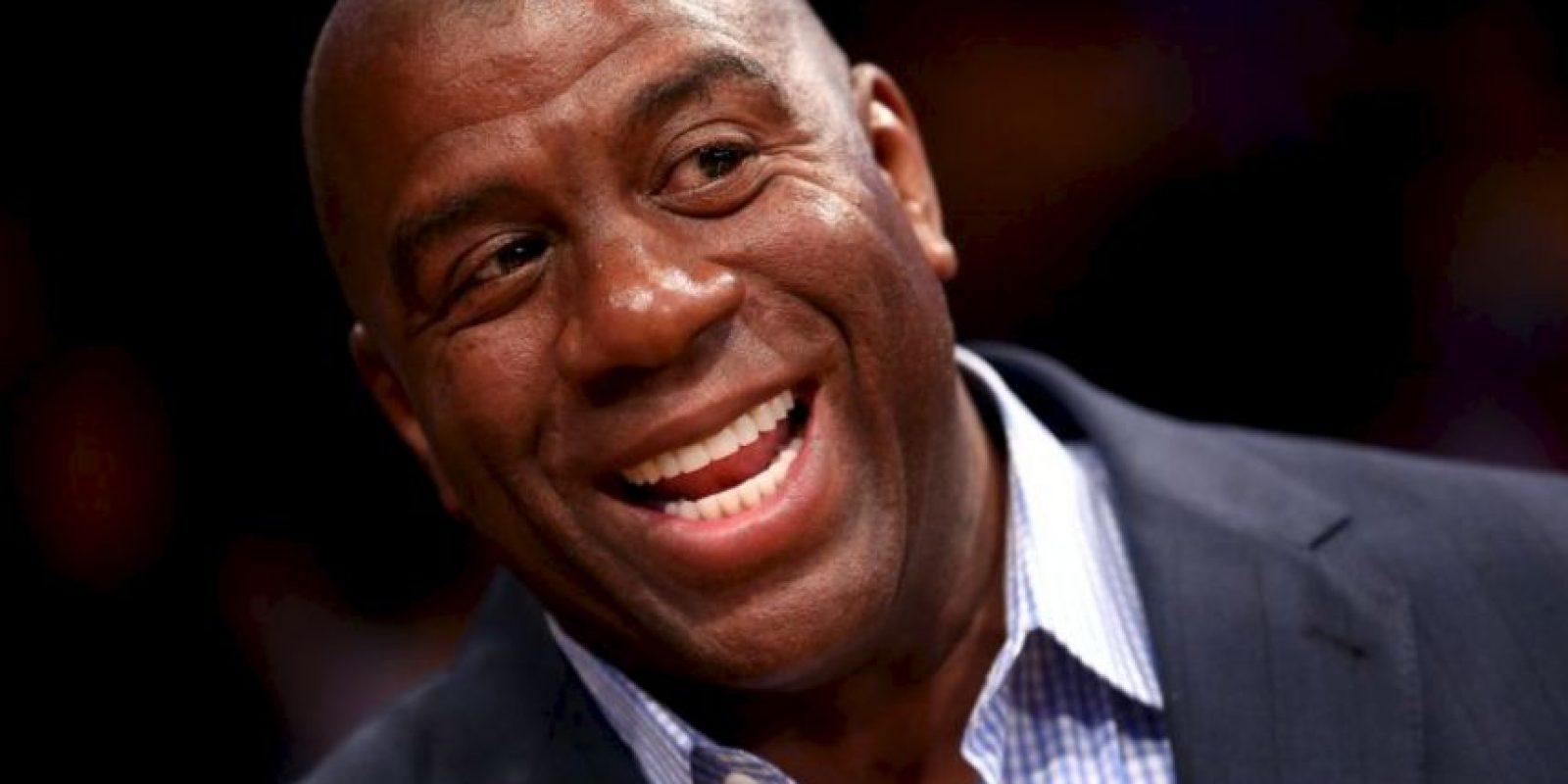 10. Magic Johnson: La leyenda de los Lakers considera a Lamar uno de sus mejores amigos Foto:Getty Images
