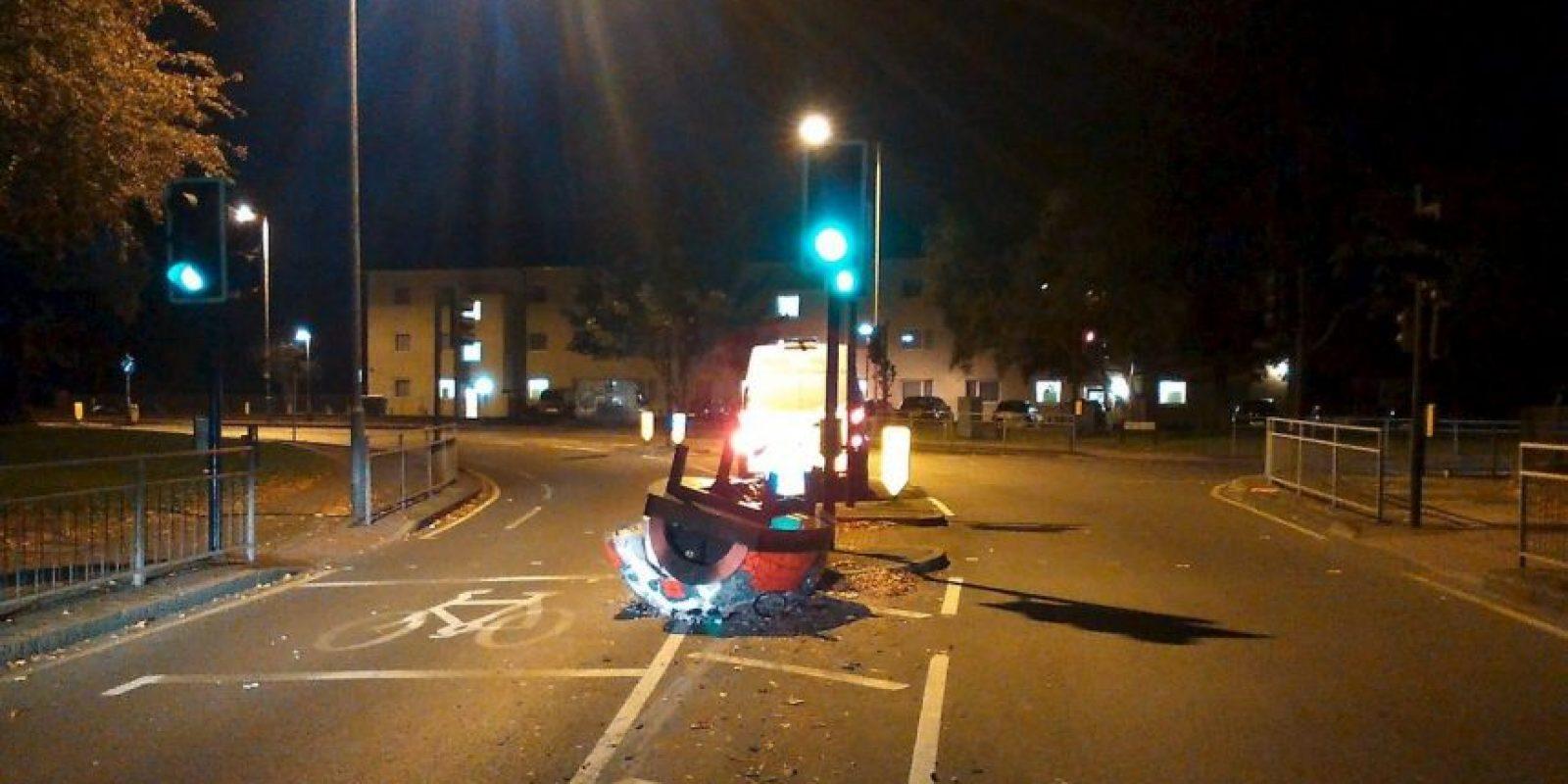 Esto fue lo que vieron las autoridades al llegar a la zona Foto:Facebook.com/KingstonPolice