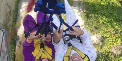 Si les da miedo lanzarse solos, aquí pueden hacerlo en pareja Foto:Facebook.com/gravitycanyonnz