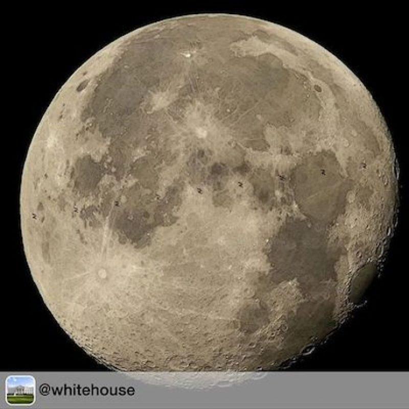La vista de la Luna, desde la ISS Foto:Instagram.com/NASA