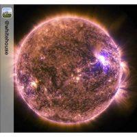 Una muestra de la radiación del Sol Foto:Instagram.com/NASA