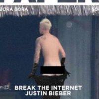 El ídolo juvenil fue captado sin ropa y las burlas no se hicieron esperar. Foto:vía twitter.com