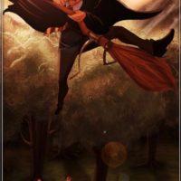"""""""Aladdin"""" aprendiendo a volar en escoba Foto:vía instagram.com/isaiahks_art"""