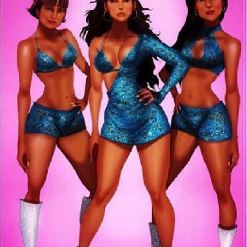 """También a """"Pocahontas"""" como Beyoncé y las integrantes de Destiny's Childs. Foto:vía instagram.com/isaiahks_art"""