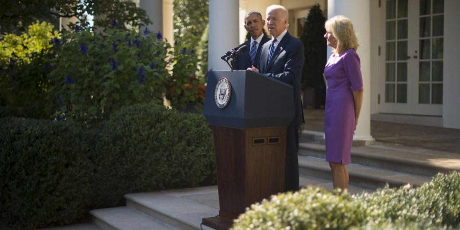 Estuvo acompañado del presidente estadounidense Barack Obama. Foto:AFP