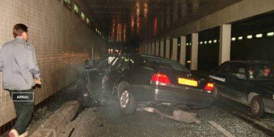Esto luego de que su Mercedes-Benz se estrellara con la columna 13 del túnel del del Puente del Alma, en París. Foto:Getty Images