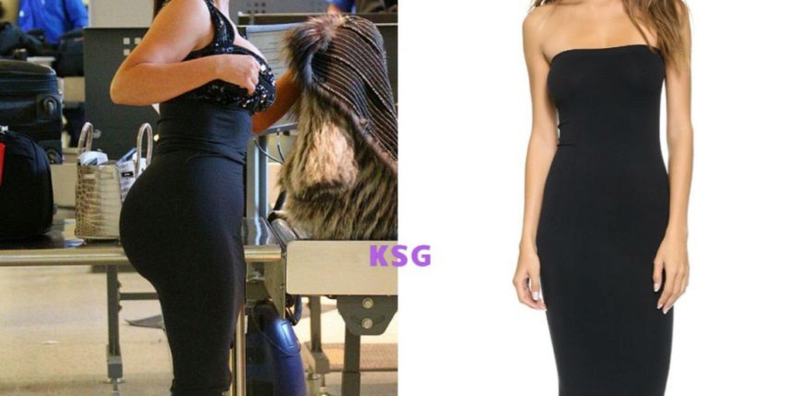 Wolford Fatal hizo un vestido convertible que Kim Kardashian convirtió en algo fatal Foto:KimStyleGuide/Tumblr