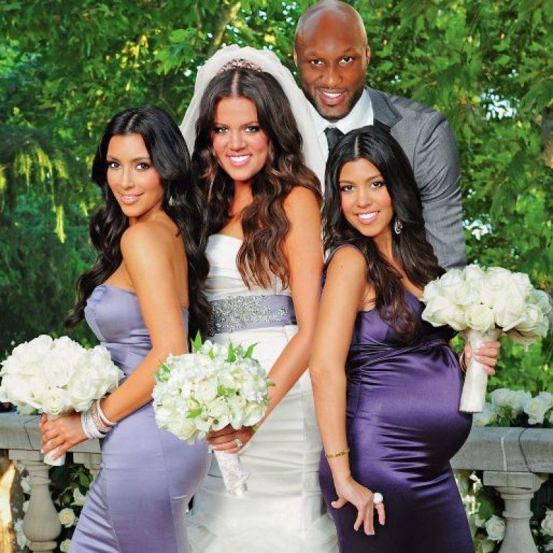 """En 2009, Khloé Kardashian y Lamar Odom se casaron a tan solo cuatro semanas de conocerse… fue lo que dicen """"amor a primera vista"""". Foto:Grosby Group"""