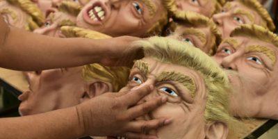 Desde hace más de dos meses se confeccionan las máscaras de Donald Trump. Foto:AFP