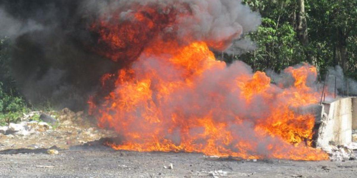 Procuraduría General incinera 114 kilogramos de distintas drogas