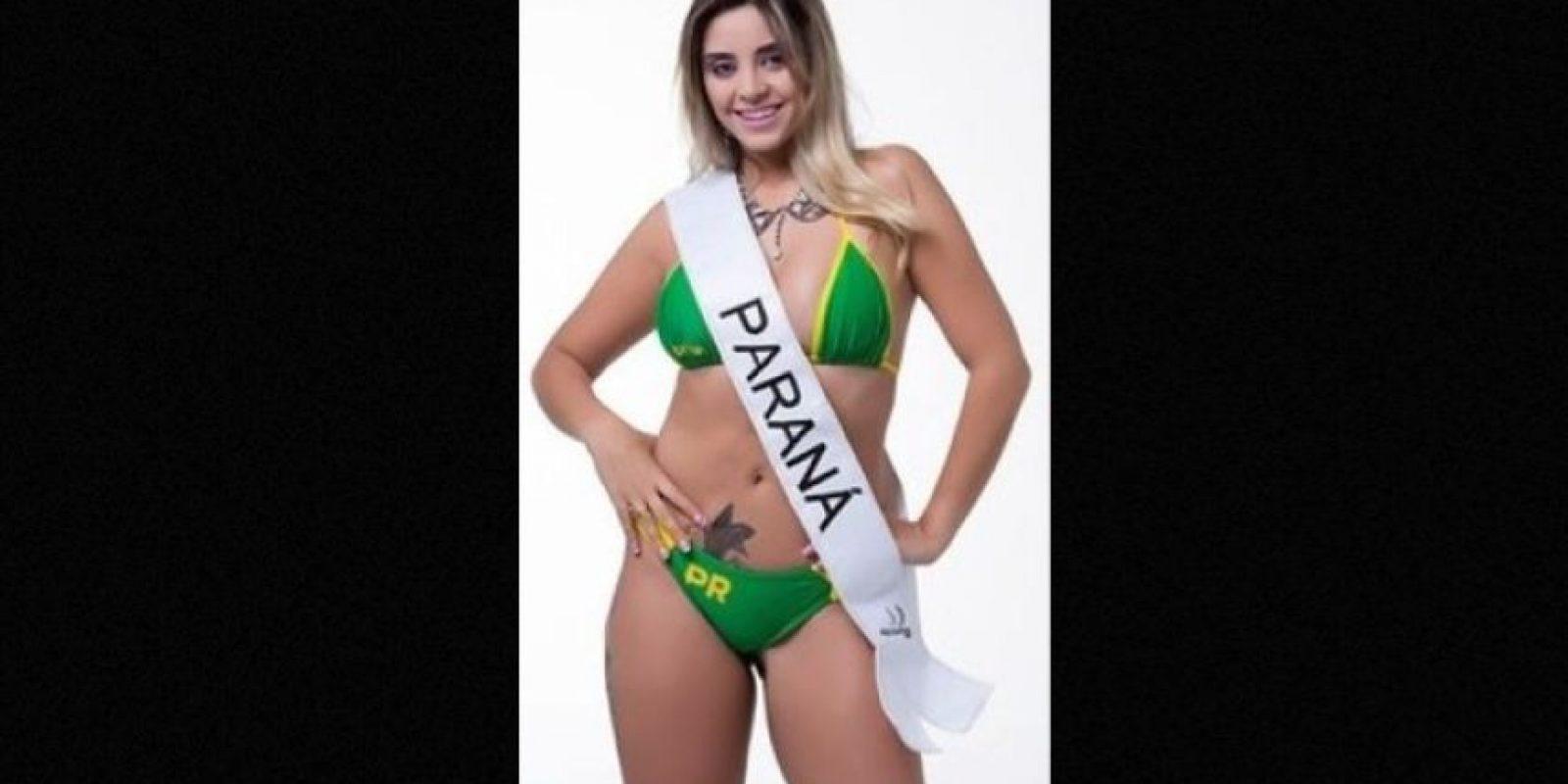 Thamara Amâncio representa a Paraná Foto:missbumbum2015.com.br