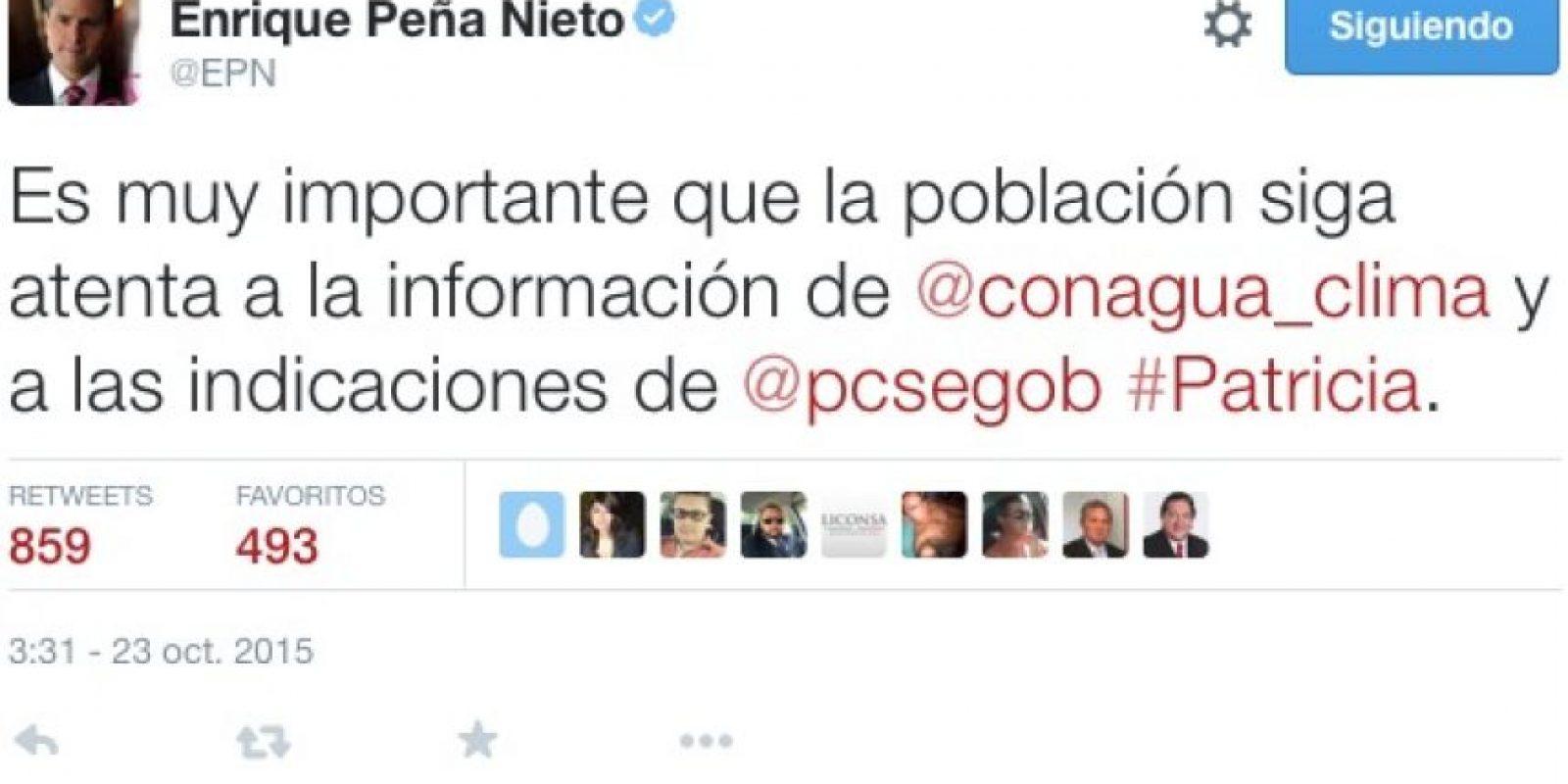 Enrique Peña Nieto, presidente de México Foto:Twitter
