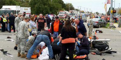 Los heridos han sido trasladados al hospital. Foto:AP