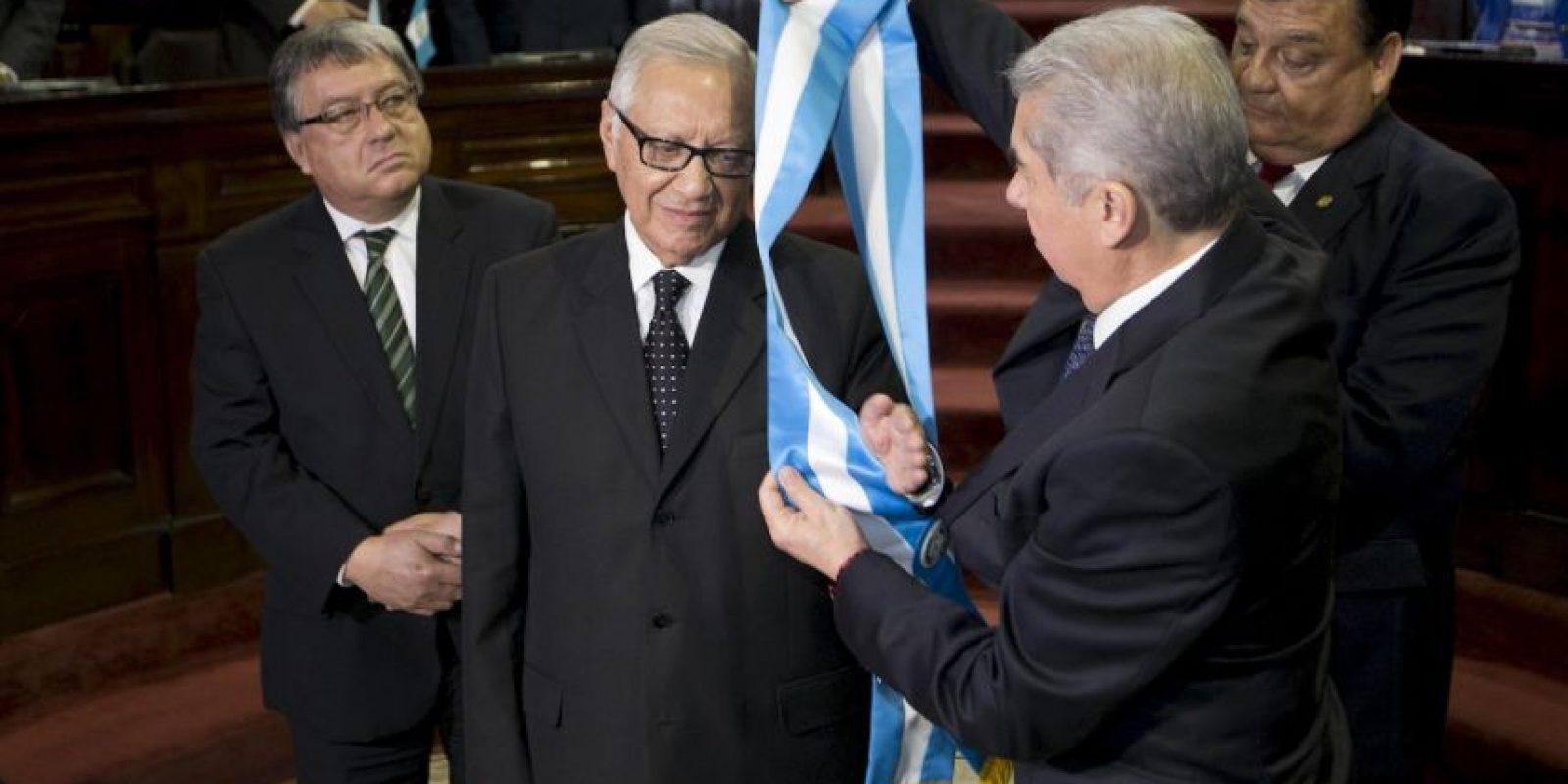 Y por el cual se nombró como presidente interino al Vicepresidente Alejandro Maldonado. Foto:AP