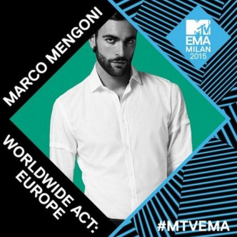 Mejor artista europeo: Marco Mengoni Foto:Twitter